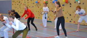 Capoeira demonstratie Knock Out Clinic amsterdam