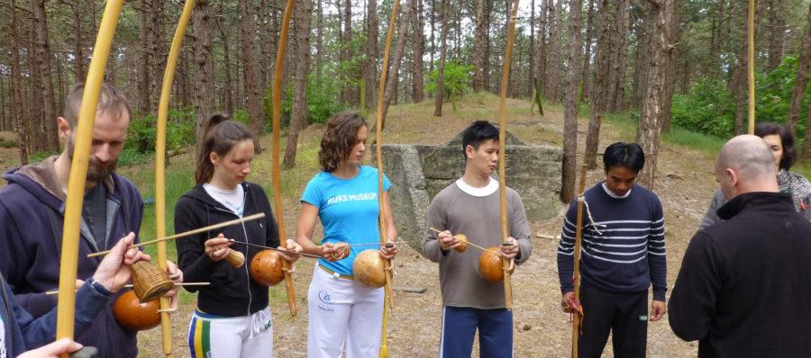 Muziek workshop percussie clinic capoeira amsterdam leiden