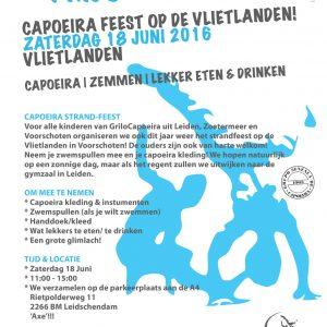 Capoeira strandfeest voor Kids – seizoenafsluiting 2016!