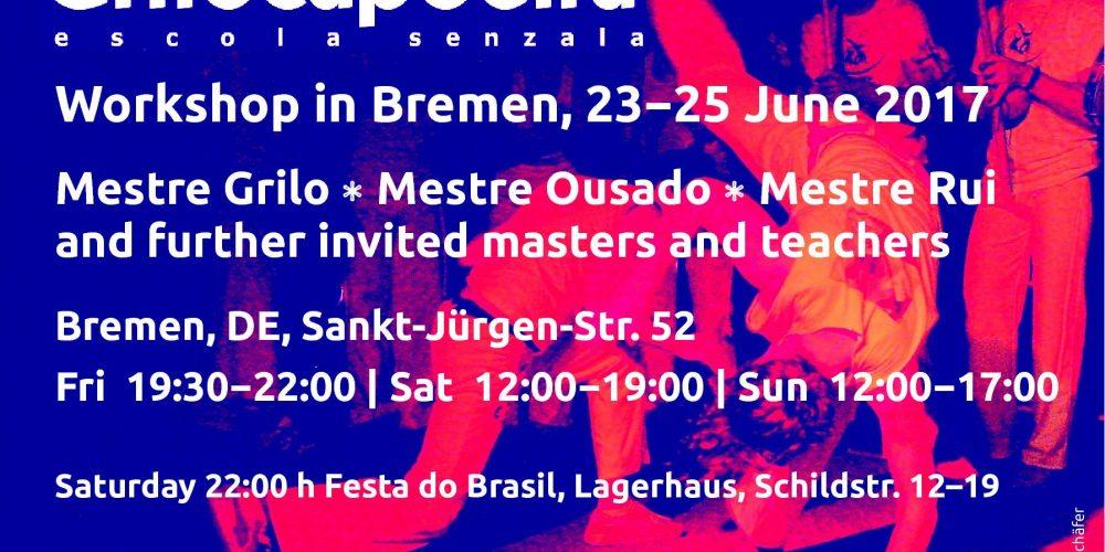 Grilo capoeira summer workshop Bremen