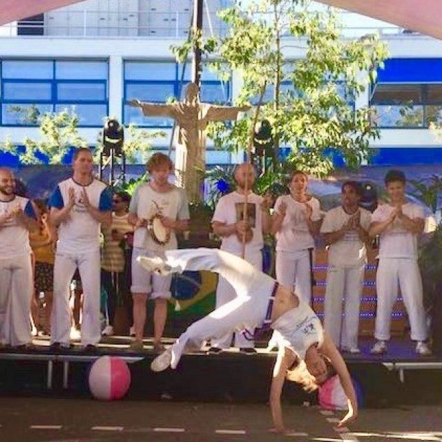 Capoeira demonstratie bij Spirit personeelsfeest