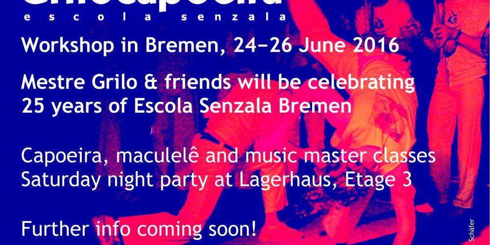 """Grilocapoeira Workshop """"25 Years of Escola Senzala Bremen"""""""